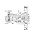 what is mortgage fraud for profit text word cloud vector image vector image