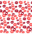 kiss marks seamless pattern grunge hand drawn vector image