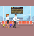 businessman and businesswoman at the airport vector image