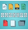 Hand draw doodle sketch set of document file vector image