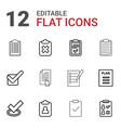 12 checklist icons vector image vector image