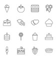 16 dessert icons vector image vector image