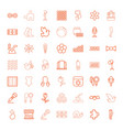 49 pattern icons vector image vector image