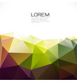 abstract colorful geometric template on down vector image vector image