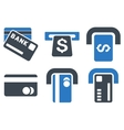 Bank ATM Flat Icons vector image