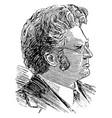 bjornstjerne bjornson vintage vector image vector image