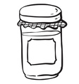 black and white jar with empty label vector image vector image