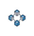 blockchain icon block-chain concept symbol vector image