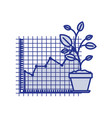 blue silhouette of growing and financial risk vector image vector image