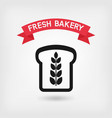 bread symbol bakery sign vector image