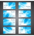 Business cards set with abstract geometric vector image vector image