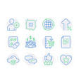 business icons set included icon as increasing vector image vector image
