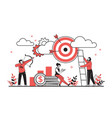 business target concept cartoon characters vector image vector image