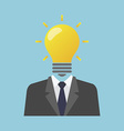 Businessman lamp vector image vector image