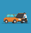 businessman repair the car vector image