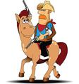 Cartoon cowboy vector image vector image