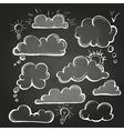 chalk drawings set speech bubble cloud vector image