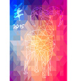 Chinese new year of the Goat 2015 abstract vector image vector image
