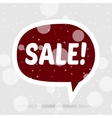 Christmas Sale red Bubble Banner vector image