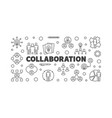 collaboration concept outline vector image vector image