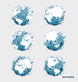 Collection of modern globe vector image vector image