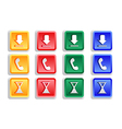 Colored sign button set vector image