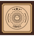 compass emblem design vector image