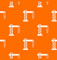 crane pattern seamless vector image vector image