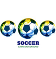 creative soccer design vector image vector image