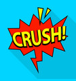 crush icon pop art style vector image vector image