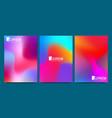 design template in trendy vibrant gradient vector image vector image