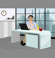 fashionable guy in the workplace vector image vector image