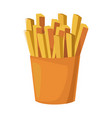 french fries food vector image vector image