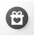gift icon symbol premium quality isolated present vector image