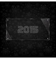 glassy 2015 celebrate card vector image