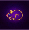 hamster neon sign vector image