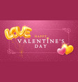 happy valentines day greeting card with golden vector image vector image