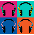 Headphones Pop Art 2 vector image vector image