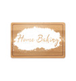 home baking in flour vector image