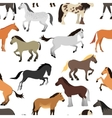 Horse isolated seamless pattern vector image