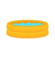 Inflate backyard pool baplastic flat
