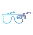 line 3d glasses object technology vector image