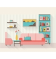 Living room with furniture vector image vector image