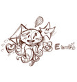 love message email electronic mail e-mail sketch vector image