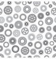 machine steel gearwheel seamless pattern vector image