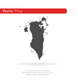 map bahrain isolated black vector image vector image