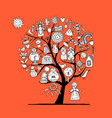 maslenitsa or shrovetide art tree for your design vector image vector image