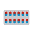 Pills blister vector image vector image