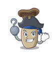 pirate king trumpet mushroom character cartoon vector image vector image