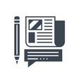 press release glyph icon vector image vector image